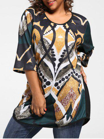Outfits Plus Size Print Tunic Knit Top