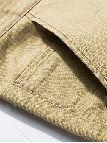 Outfit Slim Fit Zipper Fly Chino Pants - 32 KHAKI Mobile