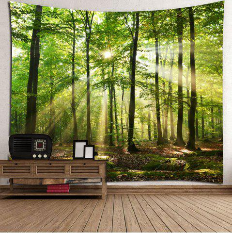 Chic Forest Sunlight Decorative Wall Art Tapestry - W79 INCH * L59 INCH GREEN Mobile