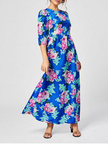 Cheap Bohemian Floral Print Maxi Dress