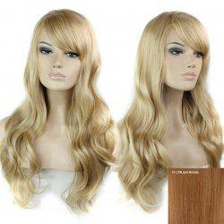 Long Side Bang Wavy cheveux humains perruque -