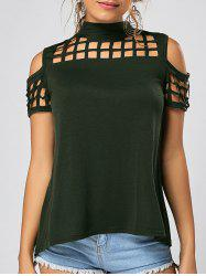 Back Slit Cold Shoulder Cut Out Top