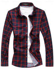 Long Sleeve Button Up Casual Plaid Shirt