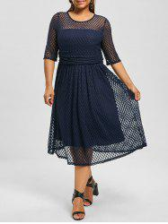 Plus Size Lace A Line Homecoming Dress