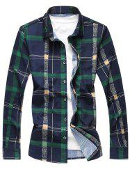 Plaid Striped Pattern Long Sleeves Casual Shirt