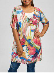 Cami Top and Printed Plus Size Tunic Top