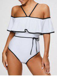 One-piece Off The Shoulder Foldover Swimwear