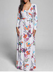 Floral Maxi Long Sleeve Dress
