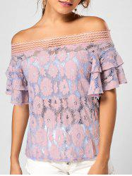 Floral Lace Off The Shoulder Top