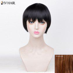 Siv Hair Straight Short Full Fringe Bob Perruque de cheveux humains - 30#