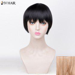 Siv Hair Straight Short Full Fringe Bob Perruque de cheveux humains - 30/613# Brown Avec Blonde