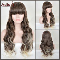 Adiors Long Full Bang Colormix Wavy Synthetic Wig