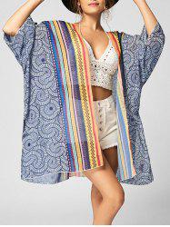 Chiffon Tribal Print Beach Cover Up - COLORMIX M