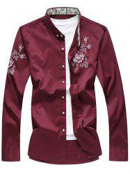 Long Sleeves Rose Printed Shirt