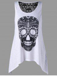 Plus Size Crochet Back Skulls Top