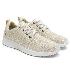 Linen Breathable Tie Up Casual Shoes
