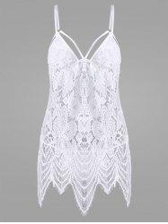 Lace Mini Sheer Slip Lingerie Dress