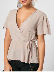 Textured Peplum Top