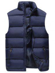 Zip Pocket Embroidered Quilted Vest