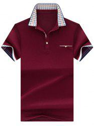 Chest Pocket Checked Collar Polo Shirt