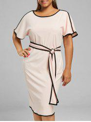 Plus Size Knee Length Sheath Modest Dress