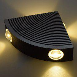 Aluminum LED Sector Wall Lamp for Bedroom