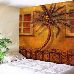Wall Hanging Coconut Tree Printed Tapestry