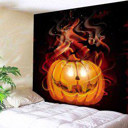 Halloween Pumpkin Star Waterproof Velvet Wall Tapestry