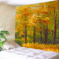 Oil Painting Maple Tree Wall Art Tapestry