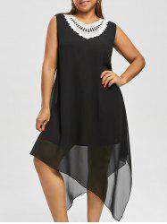 Sleeveless Asymmetric Plus Size Dress