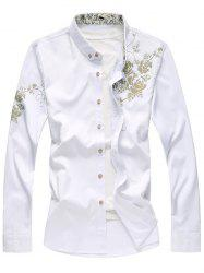 Golden Flowers Printed Button Up Shirt