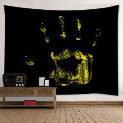 Halloween Handprint Print Tapestry Wall Hanging Art Decoration