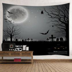 Halloween Cemetery Print Tapestry Wall Hanging Art Decoration