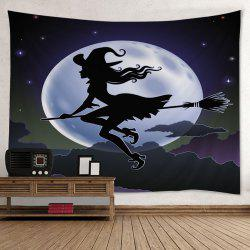Halloween Witch Print Tapestry Wall Hanging Art Decoration