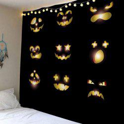 Halloween Pumpkin Emoticon Print Tapestry Wall Hanging Art Decoration