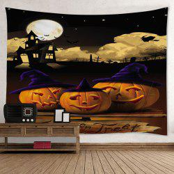 Halloween Pumpkin Moon Print Tapestry Wall Hanging Art Decoration