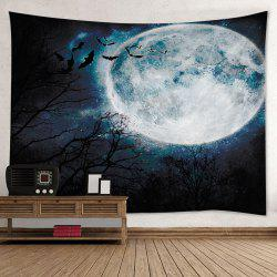 Halloween Moon Forest Print Tapestry Wall Hanging Art Decoration