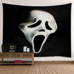 Halloween Ghost Mask Print Tapestry Wall Hanging Art Decoration