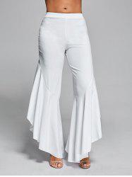 Flounce Panel High Waist Palazzo Pants