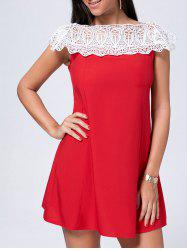 Short Crochet Panel Off The Shoulder Dress