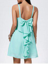 Bowknot Chiffon Trapeze Mini Dress