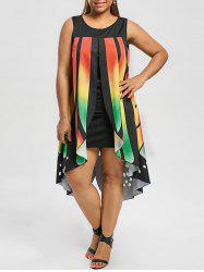 Plus Size Sleeveless Butterfly Wings Dress