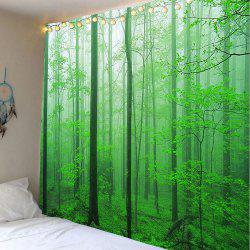 Forest Tree Decorative Wall Hanging Tapestry - GREEN