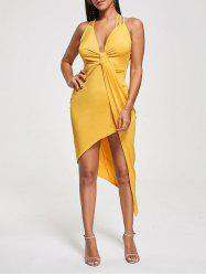 Robe asymétrique Twist Twist Criss Cross - Jaune S