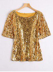 Plus Size Glitter Sequined T-shirt -