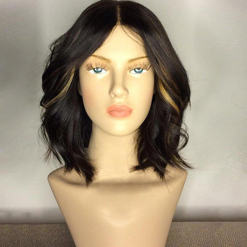 Center Part Medium Shaggy Wavy Synthetic WigHAIR<br><br>Color: COLORMIX; Type: Full Wigs; Cap Construction: Capless; Style: Wavy; Material: Synthetic Hair; Bang Type: Middle; Length: Medium; Length Size(CM): 35; Weight: 0.2150kg; Package Contents: 1 x Wig;