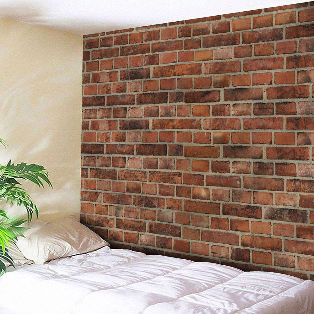 Microfiber Wall Hanging Brick Wall TapestryHOME<br><br>Size: W59 INCH * L51 INCH; Color: BRICK-RED; Style: Vintage; Material: Nylon,Polyester; Feature: Removable,Washable; Shape/Pattern: Print; Weight: 0.1800kg; Package Contents: 1 x Tapestry;