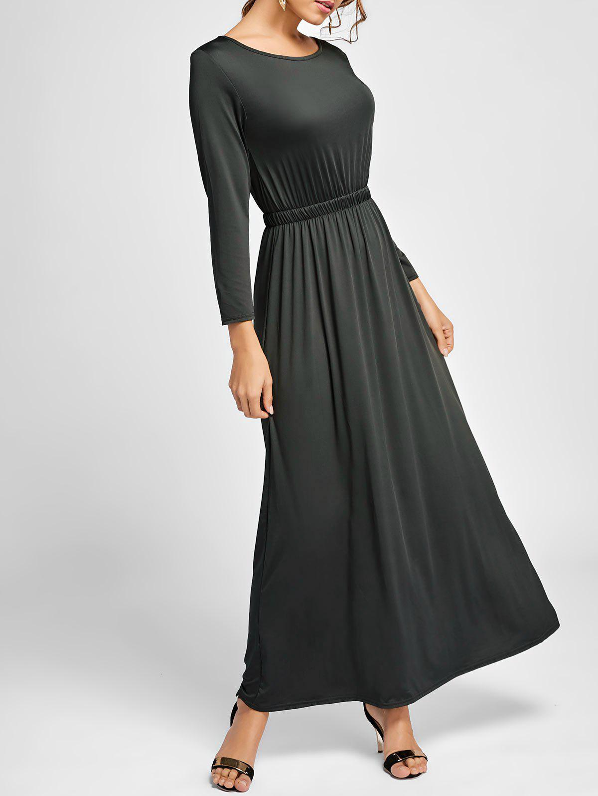 b9cc1c7cf60a 2019 Long Sleeve Maxi Flowy Dress