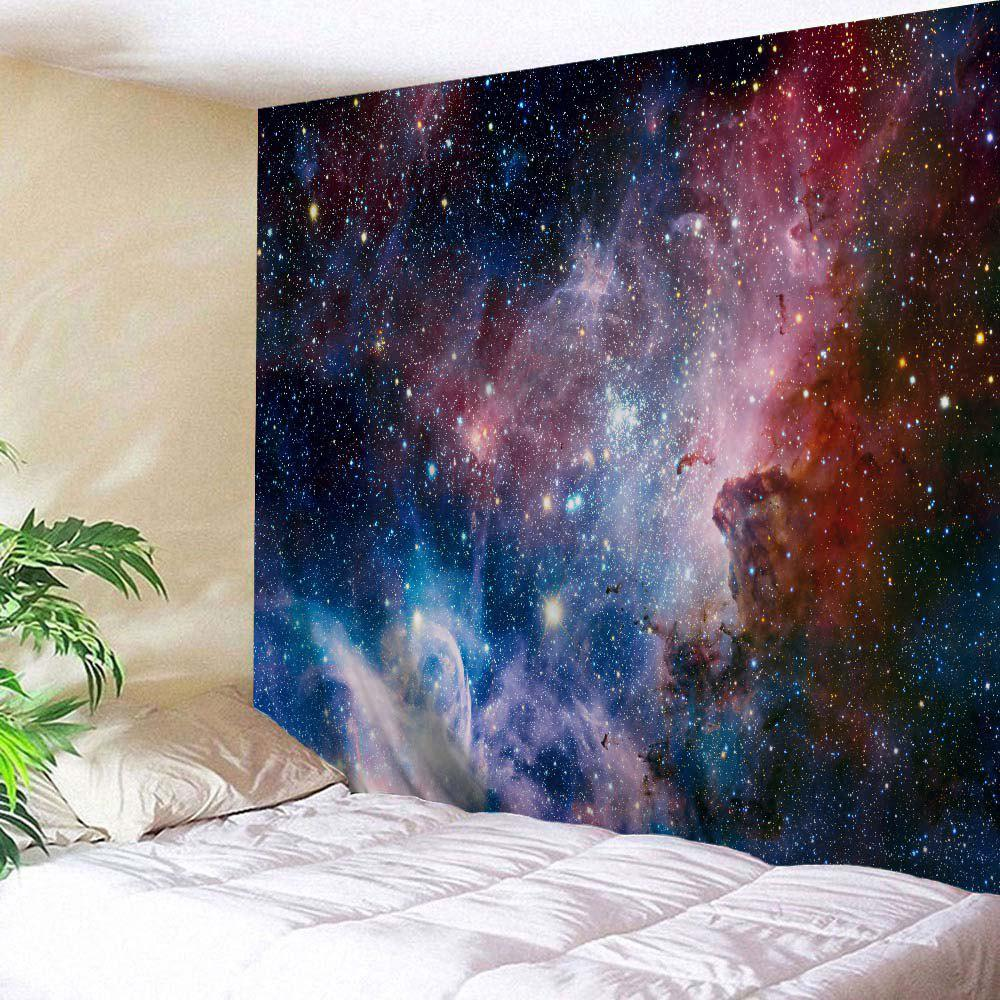 Galaxy Print Wall Art Hanging Throw TapestryHOME<br><br>Size: W71 INCH * L79 INCH; Color: COLORMIX; Style: Romantic; Theme: Landscape; Material: Polyester; Feature: Removable,Washable; Shape/Pattern: Print; Weight: 0.3100kg; Package Contents: 1 x Tapestry;