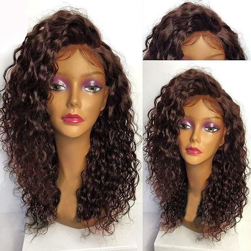 Deep Side Part Long Shaggy Curly Lace Front Synthetic WigHAIR<br><br>Color: DEEP BROWN; Type: Full Wigs; Cap Construction: Lace Front; Style: Curly; Cap Size: Average; Material: Synthetic Hair; Bang Type: Side; Length: Long; Lace Wigs Type: Lace Front Wigs; Occasion: Daily; Length Size(Inch): 24; Heat Resistant: Below 200?; Weight: 0.3000kg; Package Contents: 1 x Wig;